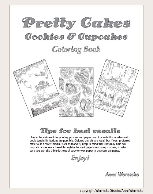 Pretty Cakes Coloring Book Title Page