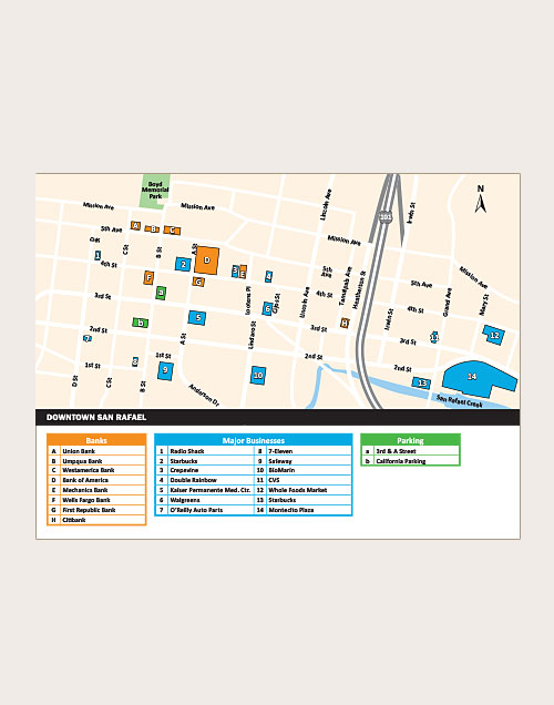 San Rafael downtown map