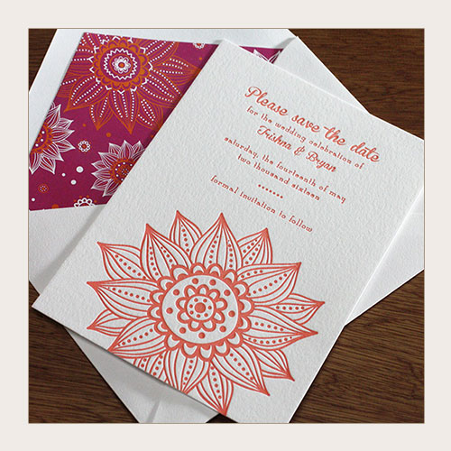 floral wedding invitation save the date