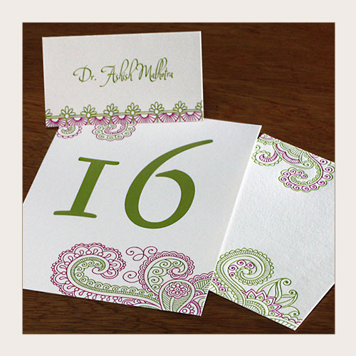 paisley wedding day printed items