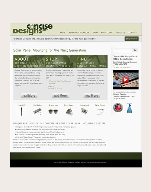 Concise Designs Website Redesign