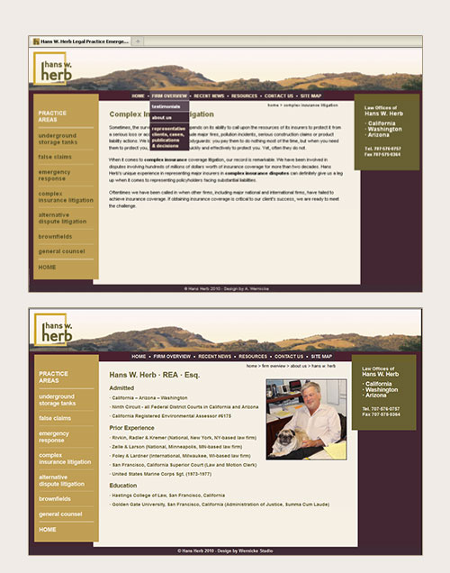 Hans Herb Law Firm Website Design