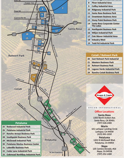 Keegan & Coppin Business Parks Map