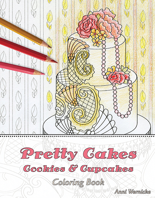 Pretty Cakes Coloring Book Cover