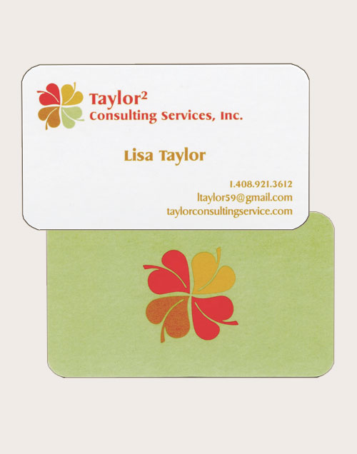 Taylor Square Consulting Services Logo on Business Card